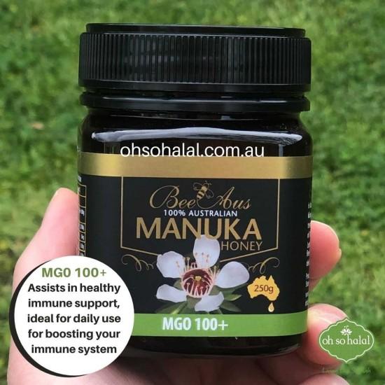 Bee Aus 100% Australian Manuka Honey MGO 100+