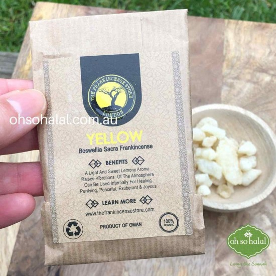 Frankincense Edible Resin - Yellow Hojari 25g