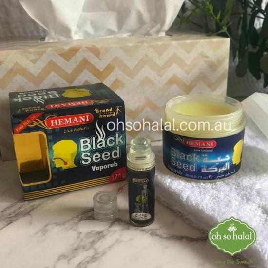 Black Seed Vapor Rub with Free Black Seed Massage Oil Roll On