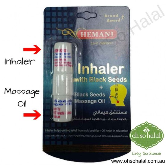 Inhaler with Black Seeds Plus Black Seed Massage Oil