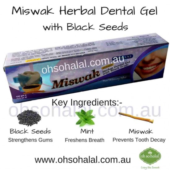 Miswak Toothpaste with Black Seeds 100g