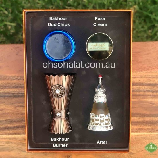 Attar and Bakhour Gift Set 4 in 1
