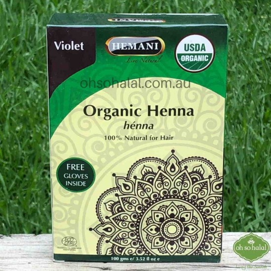 Violet Organic Henna Hair Colour
