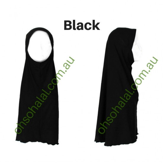 One Piece Slip-On Cotton Hijab
