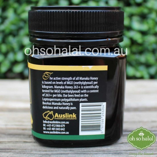Bee Aus 100% Australian Manuka Honey MGO 263+