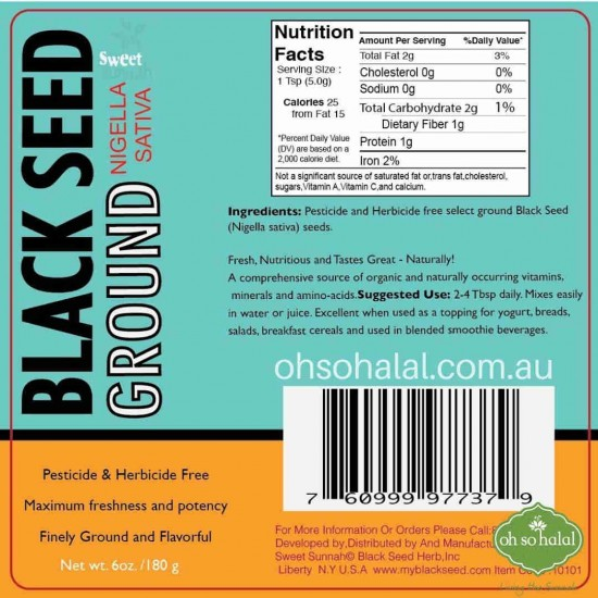 Black Seed Herb - Ground Seed 226 grams